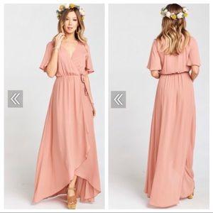 Show Me Your Mumu Sophia Wrap Dress - crisp mauve